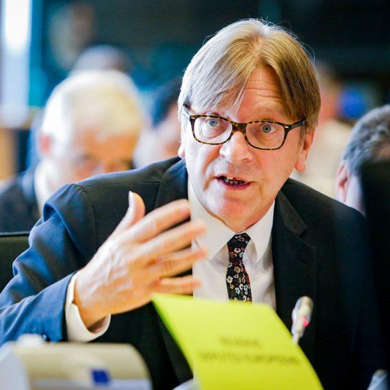 Guy Verhofstadt in het Europees Parlement