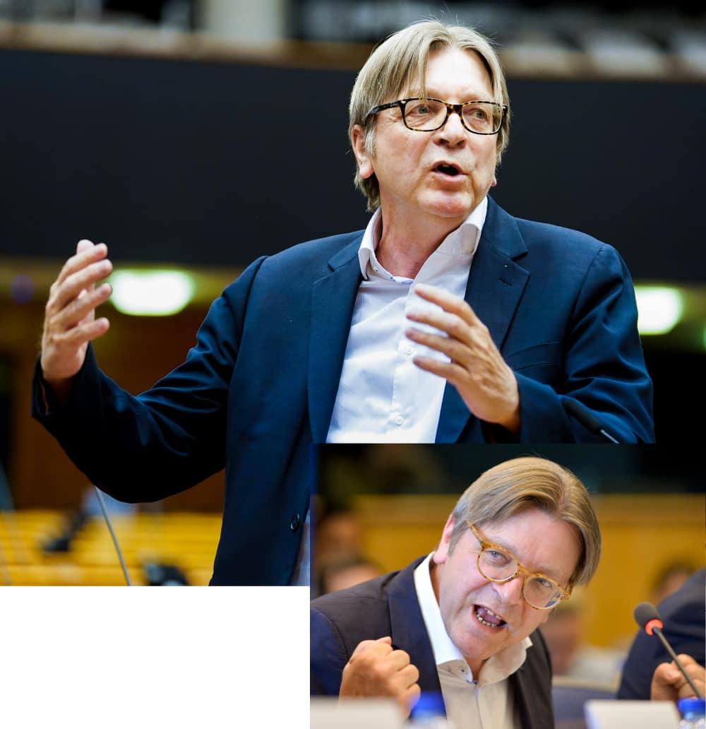 Collage van Guy Verhofstadt